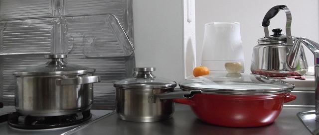 鍋の荷造り・梱包