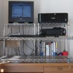 スタンディングデスク(立ち机)をメタルラックで自作してみた